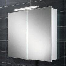 HIB Neutron LED Aluminium Mirror Cabinet - 44500 Medium Image