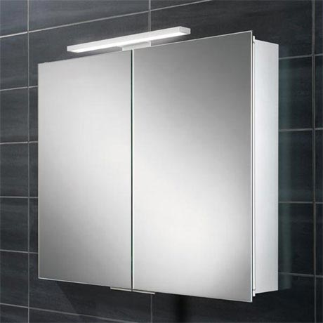 HIB Neutron LED Aluminium Mirror Cabinet - 44500
