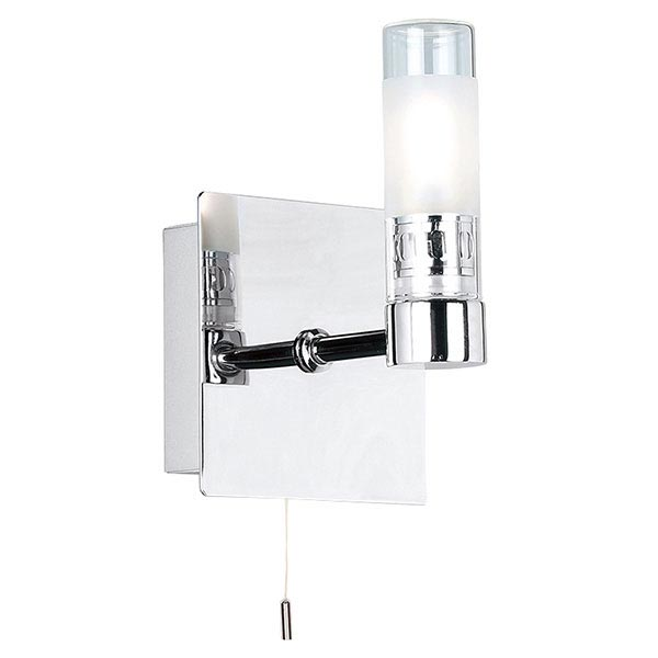 Endon - Shore Square Wall and Mirror Light with Pull String - Polished Chrome - 445 Large Image