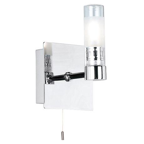 Endon - Shore Square Wall and Mirror Light with Pull String - Polished Chrome - 445