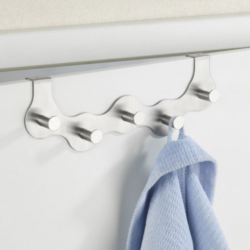 Wenko Garda 5 Hook Stainless Steel Door Hook - 4468120100 profile large image view 2