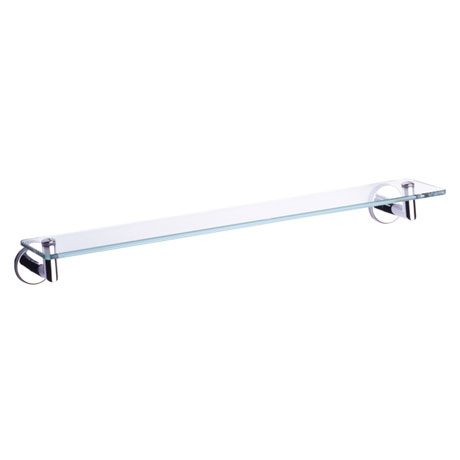 Vitra - Minimax 50cm Glass Shelf - Chrome - 44776