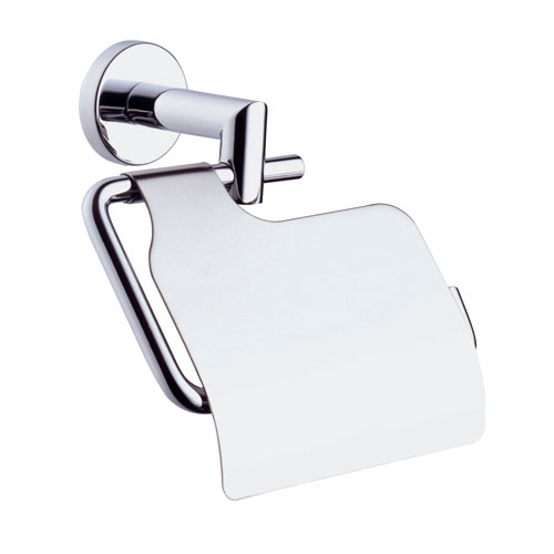 Vitra - Minimax Toilet Roll Holder with Cover - Chrome - 44788 profile large image view 1