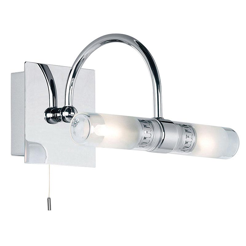 Endon - Shore Arched Wall and Mirror Light with Pull String - Polished Chrome - 447 Large Image
