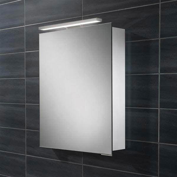 HIB Proton LED Aluminium Mirror Cabinet - 44800 Large Image
