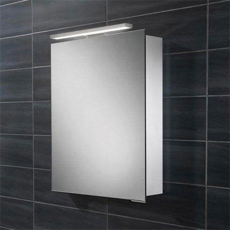 HIB Proton LED Aluminium Mirror Cabinet - 44800