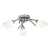 Searchlight Chrome 3 LED Light Ceiling Fitting with White Glass Shades - 4483-3CC-LED profile small image view 1