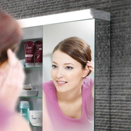 HIB Ember 80 LED Mirror Cabinet - 45400 profile large image view 4