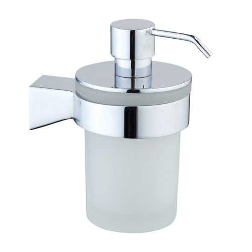 Vitra - Slope Wall Mounted Liquid Soap Dispenser - Chrome - 44978 profile large image view 1