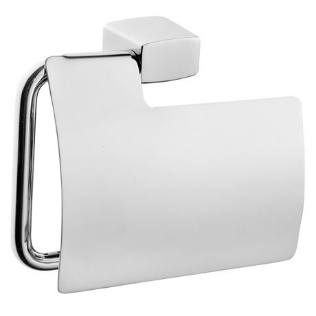 Vitra - Slope Toilet Roll Holder with Cover - Chrome - 44986