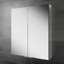 HIB Eris 60 Aluminium Mirror Cabinet - 45200 Medium Image