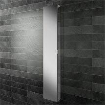 HIB Eris 30 Aluminium Mirror Cabinet - 45300 Medium Image