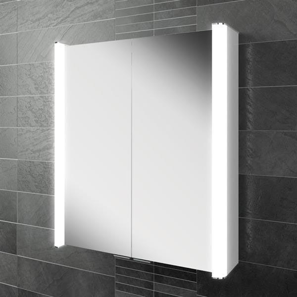 HIB Vita 60 LED Aluminium Mirror Cabinet - 45500 Large Image