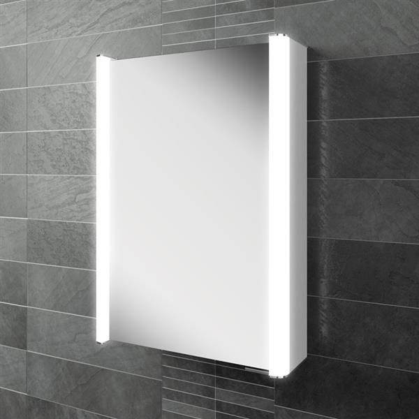HIB Vita 50 LED Aluminium Mirror Cabinet - 45600 Large Image