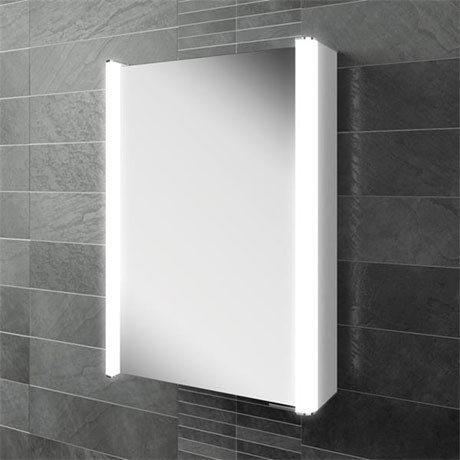 HIB Vita 50 LED Aluminium Mirror Cabinet - 45600