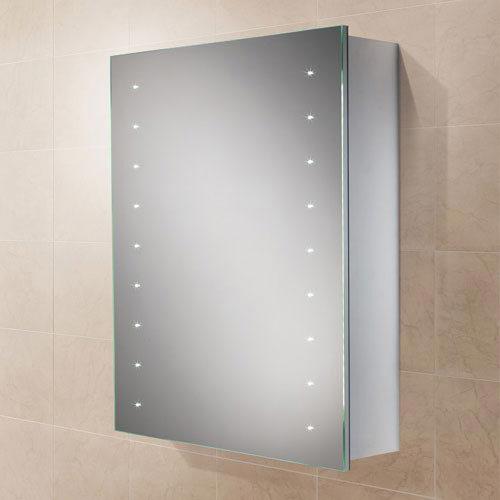 HIB Nimbus 50 LED Demisting Aluminium Mirror Cabinet - 45800 Large Image