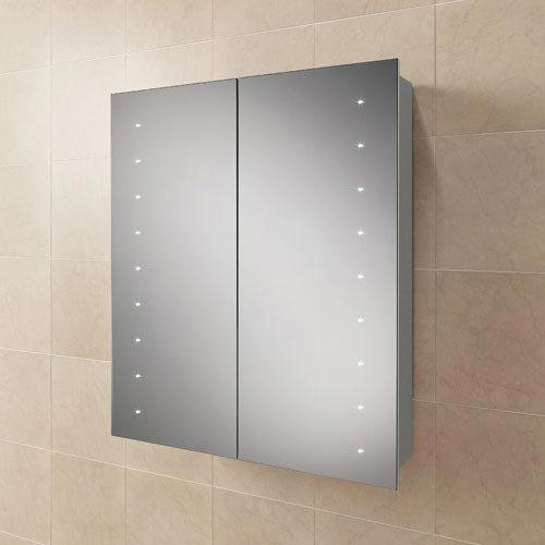 HIB Nimbus 60 LED Demisting Aluminium Mirror Cabinet - 45900 Large Image