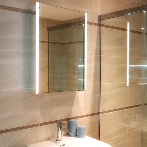 HIB Xenon 50 LED Mirror Cabinet - 46000 profile large image view 3