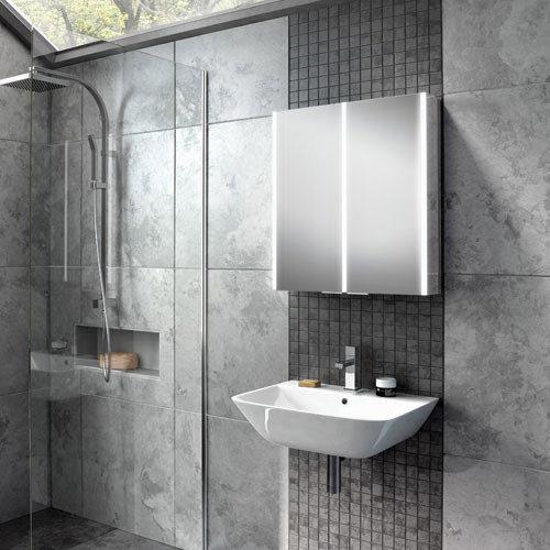 HIB Xenon 60 LED Mirror Cabinet - 46100  Standard Large Image