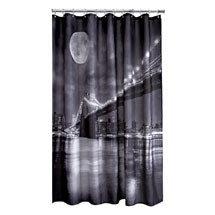 Aqualona Brooklyn Bridge Polyester Shower Curtain - W1800 x H1800mm - 46449 Medium Image