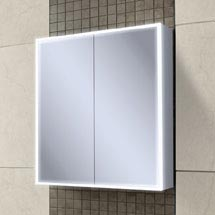 HIB Qubic 60 LED Aluminium Mirror Cabinet - 46500 Medium Image
