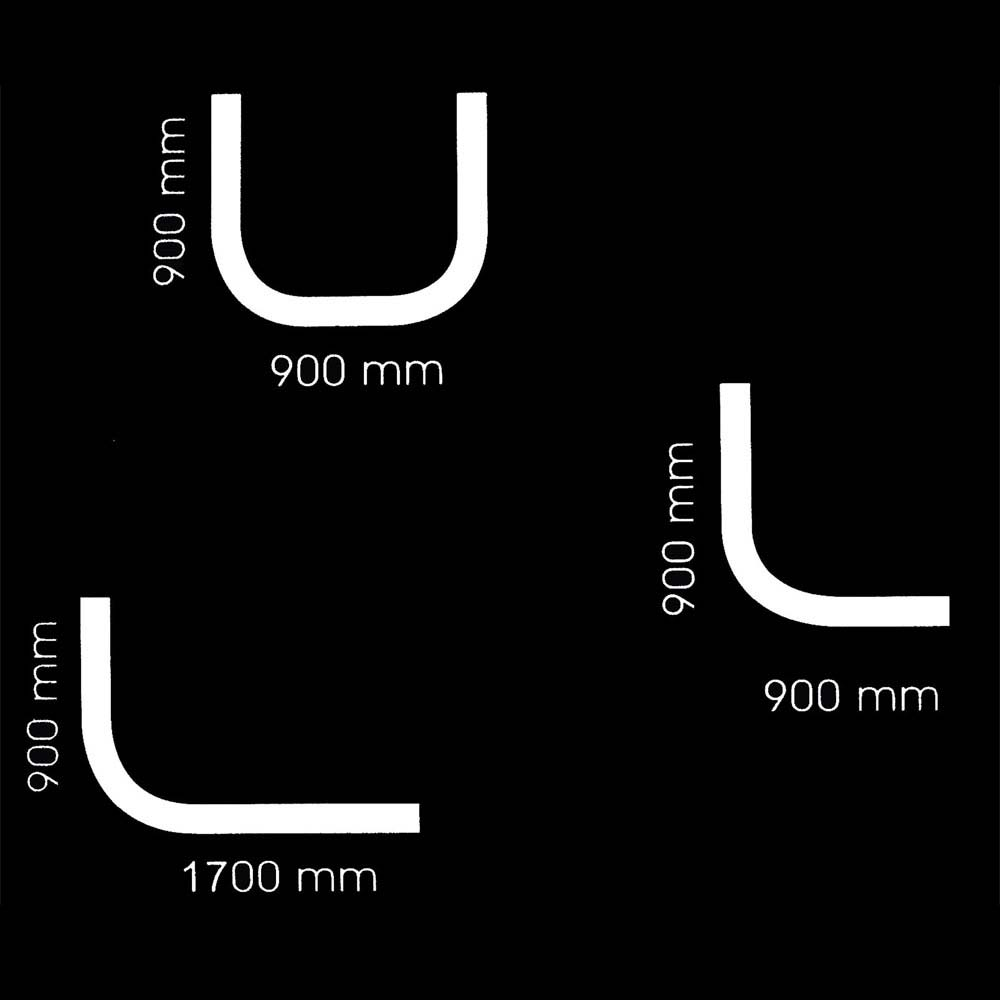 Aqualona Profile Shower Curtain Track and Hooks - Chrome - 46760 Profile Large Image