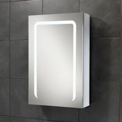 HIB Stratus 50 LED Demisting Aluminium Mirror Cabinet - 46800 profile large image view 1
