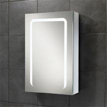 HIB Stratus 50 LED Demisting Aluminium Mirror Cabinet - 46800 Medium Image