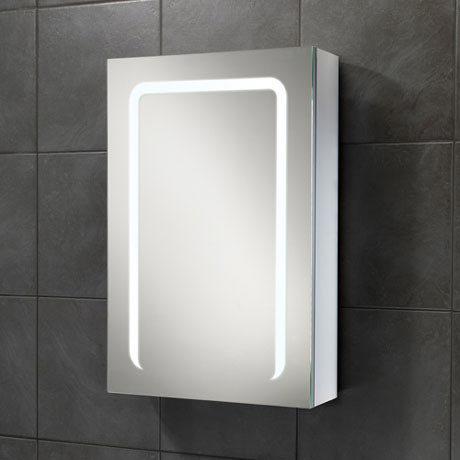 HIB Stratus 50 LED Demisting Aluminium Mirror Cabinet - 46800