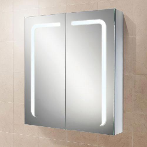 HIB Stratus 60 LED Demisting Aluminium Mirror Cabinet - 46900
