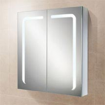 HIB Stratus 60 LED Demisting Aluminium Mirror Cabinet - 46900 Medium Image