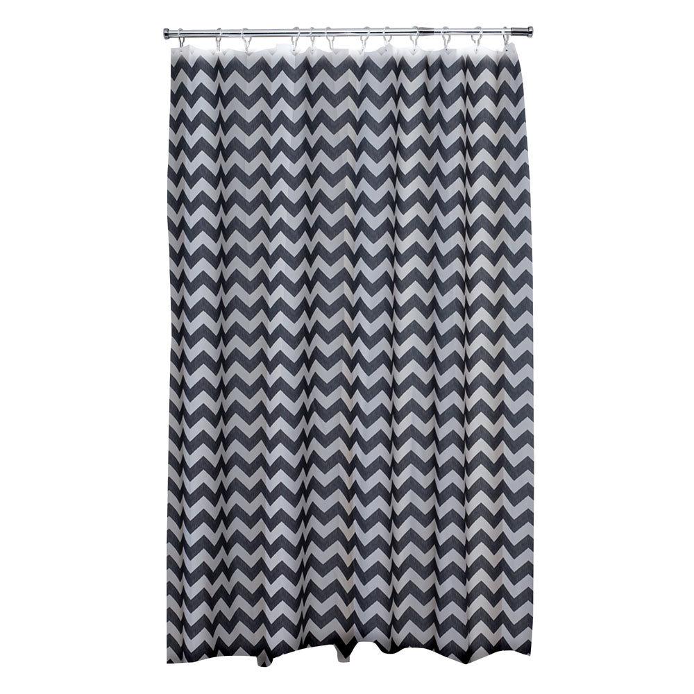 Aqualona Chevron Polyester Shower Curtain - W1800 x H1800mm - 47392