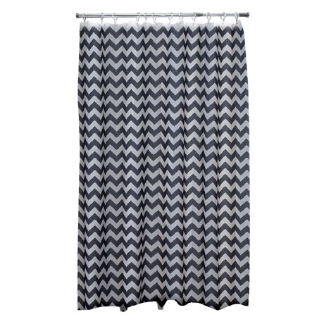 Aqualona Chevron Polyester Shower Curtain - W1800 x H1800mm - 47392