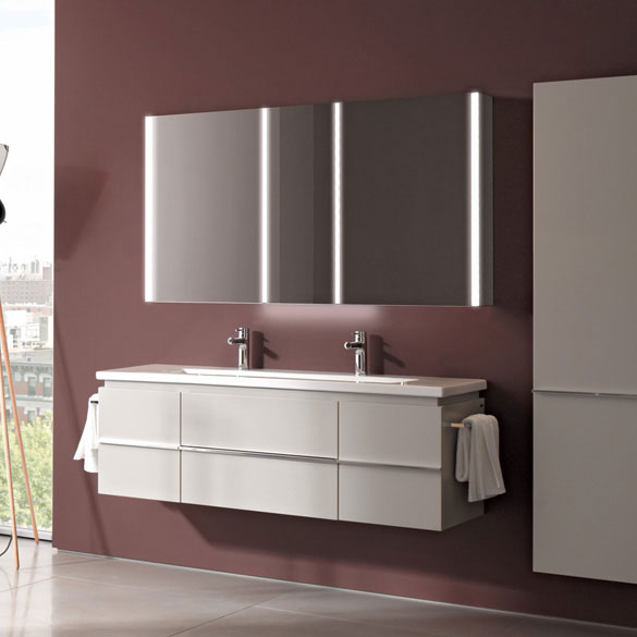 Laufen - Frame 25 Vertical Mirror with Aluminium Frame - 550 x 825mm Profile Large Image