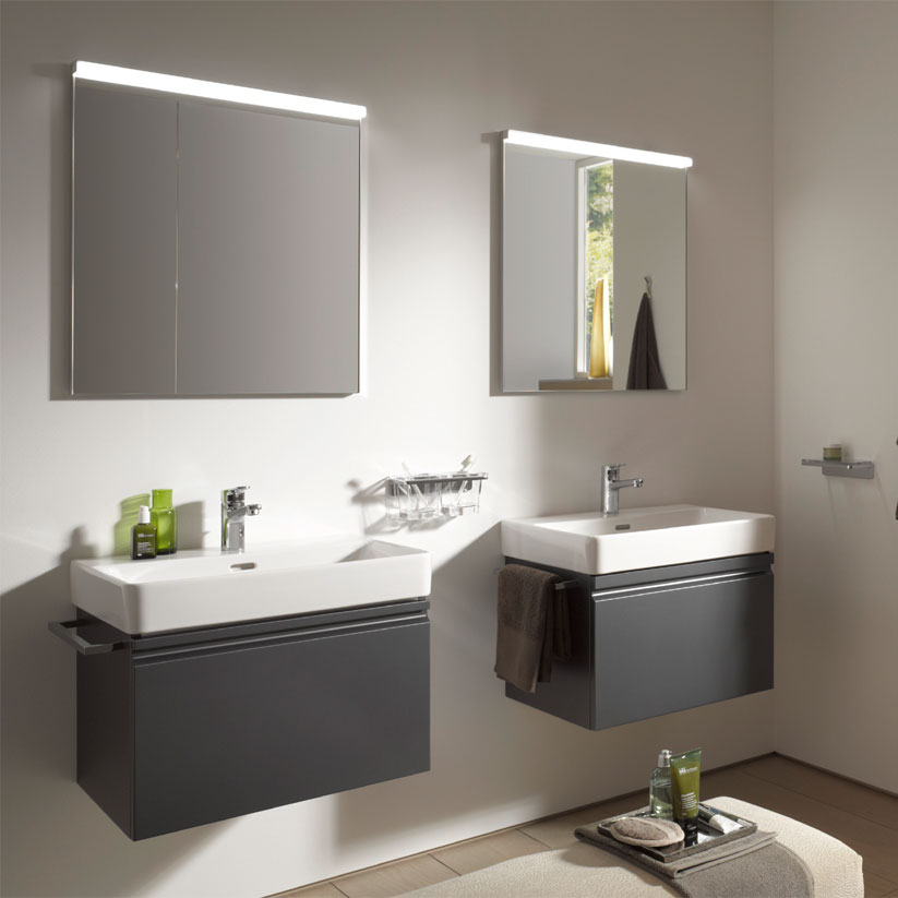 Laufen - Frame 25 Vertical Mirror with Aluminium Frame - 550 x 825mm Feature Large Image