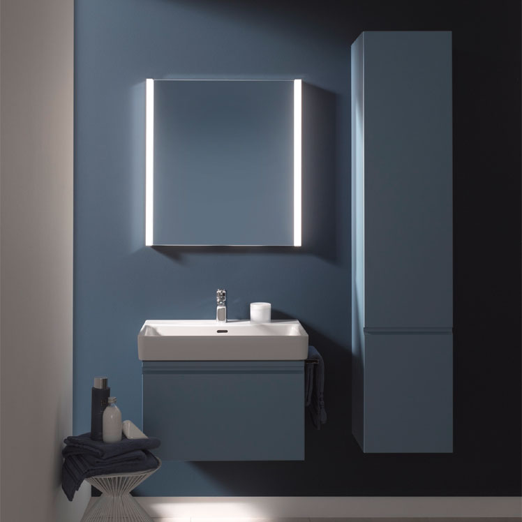 Laufen - Frame 25 Vertical Mirror with Aluminium Frame - 550 x 825mm Standard Large Image