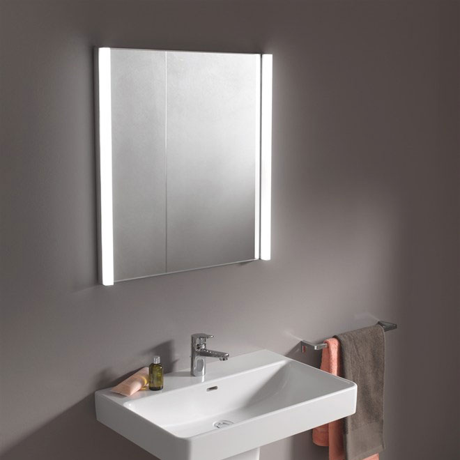 Laufen - Frame 25 Vertical Mirror with Aluminium Frame - 550 x 825mm In Bathroom Large Image