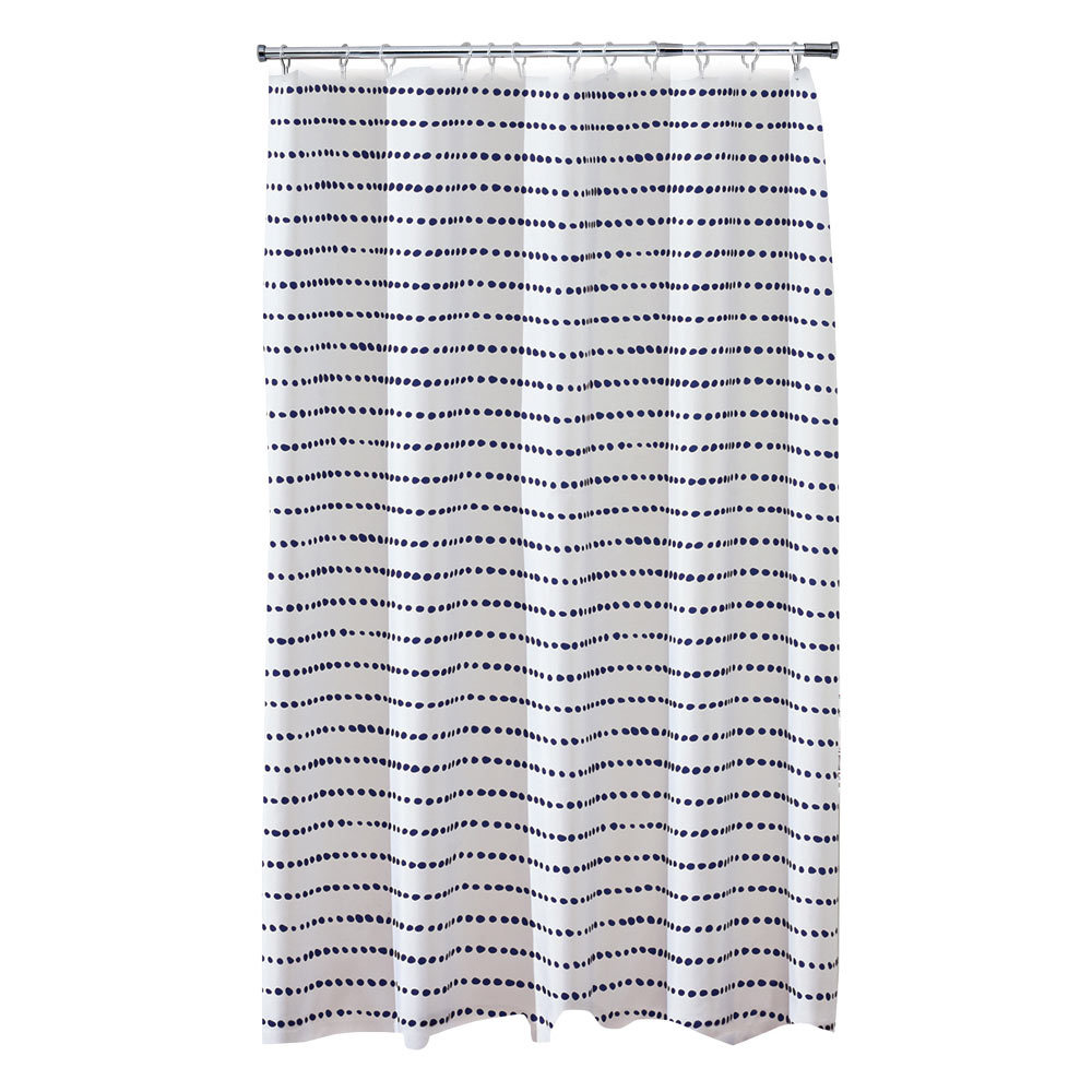Aqualona Indigo Spot Polyester Shower Curtain - W1800 x H1800mm - 47422
