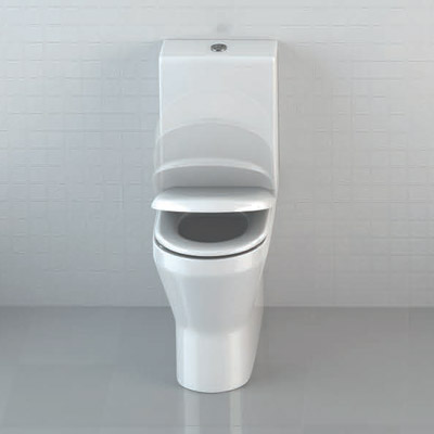 Britton Bathrooms - Tall S48 Close Coupled Toilet & Soft Close Seat profile large image view 2