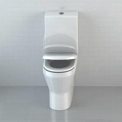 Britton Bathrooms - Tall S48 Close Coupled Toilet & Soft Close Seat Profile Large Image