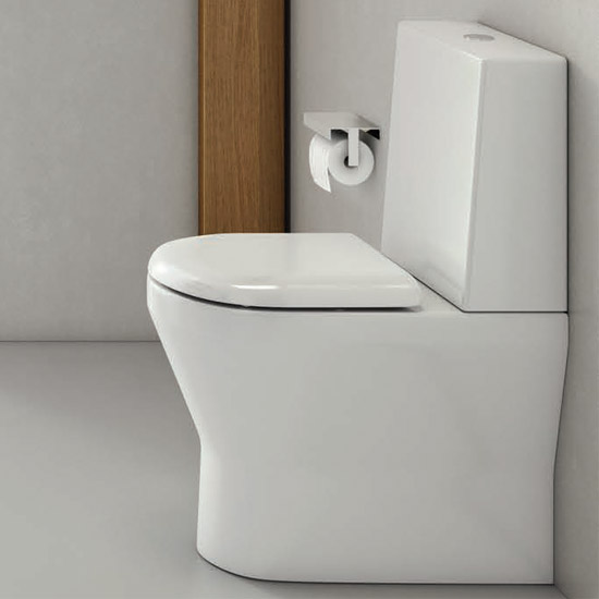 Britton Bathrooms - Tall S48 Close Coupled Toilet & Soft Close Seat profile large image view 3