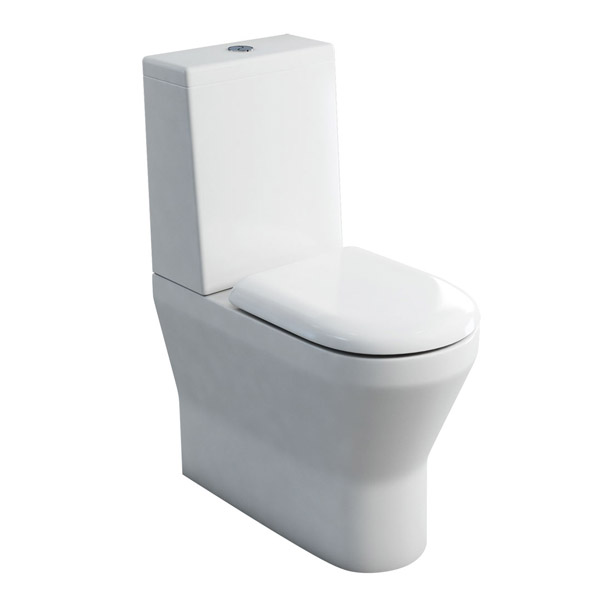 Britton Bathrooms - Tall S48 Close Coupled Toilet & Soft Close Seat Large Image