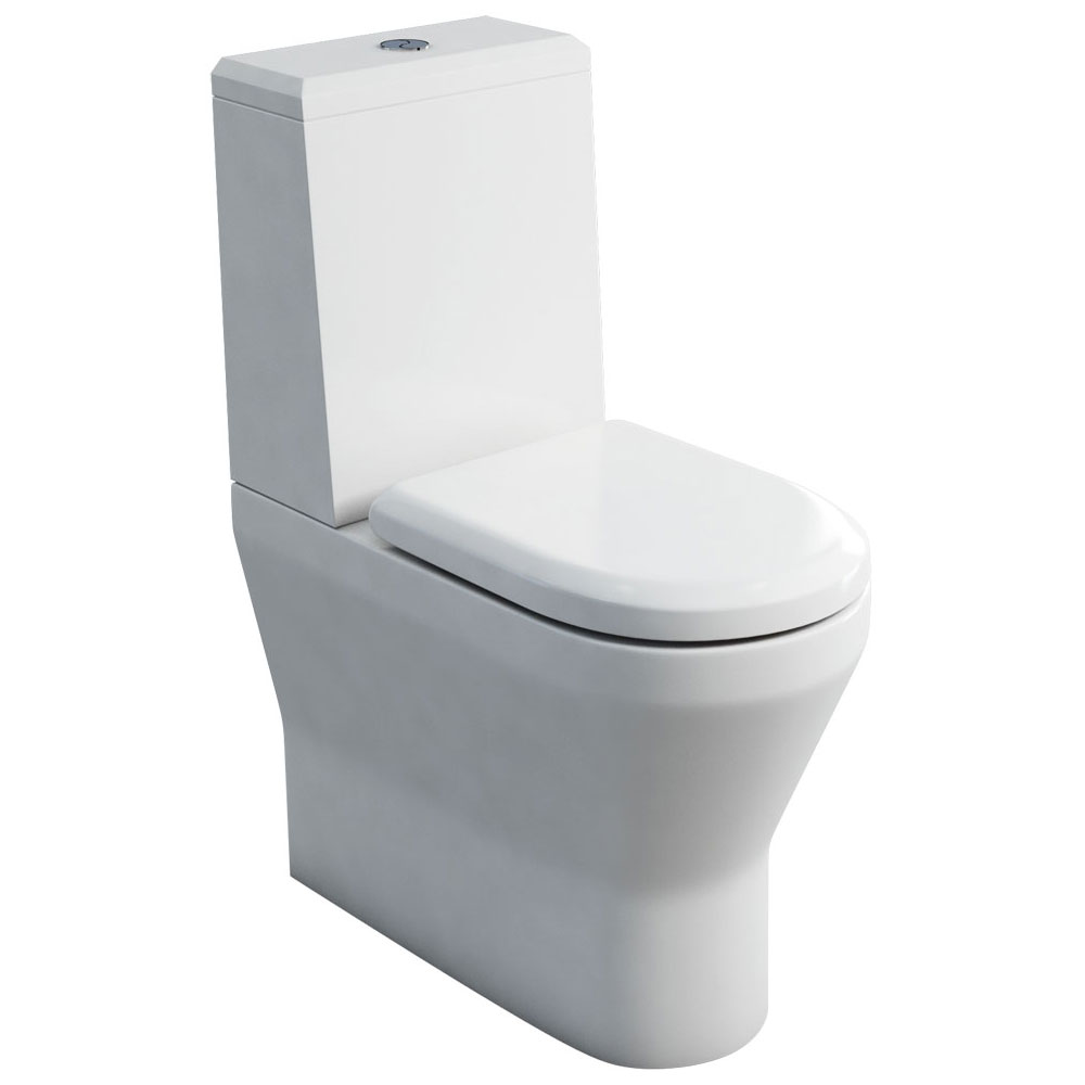 Britton Bathrooms - Tall S48 Close Coupled Toilet with Angled Lid Cistern & Soft Close Seat Large Im