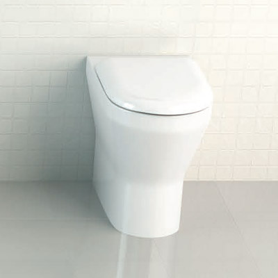 Britton Bathrooms - Tall S48 Back to Wall WC with Soft Close Seat Profile Large Image