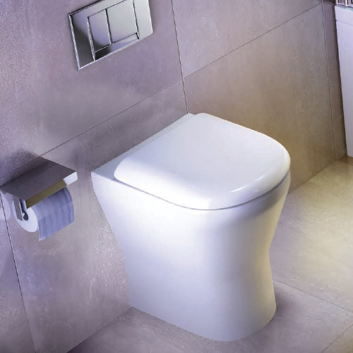 Britton Bathrooms - Tall S48 Back to Wall WC with Soft Close Seat Feature Large Image