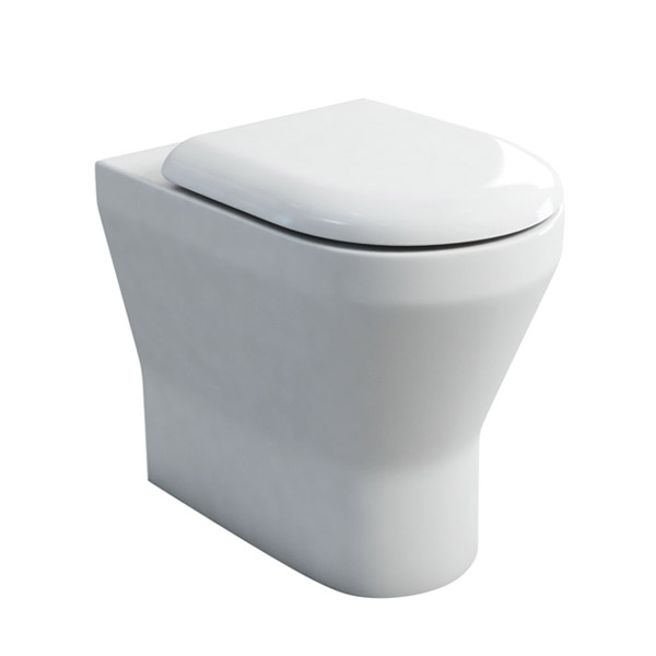 Britton Bathrooms - Tall S48 Back to Wall WC with Soft Close Seat Large Image