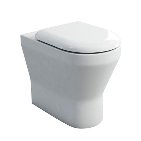 Britton Bathrooms - Tall S48 Back to Wall WC with Soft Close Seat