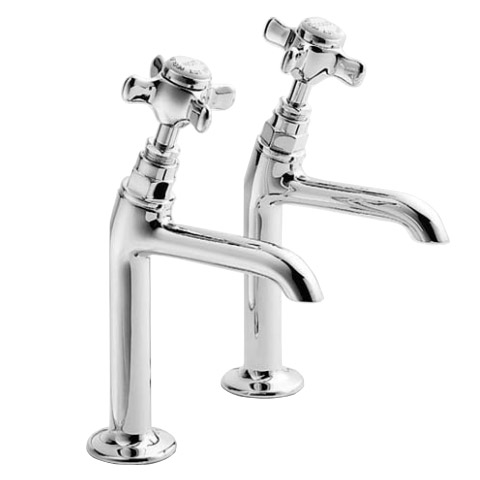 Francis Pegler Sequel High Neck Sink Taps (pair) - 485010 Large Image