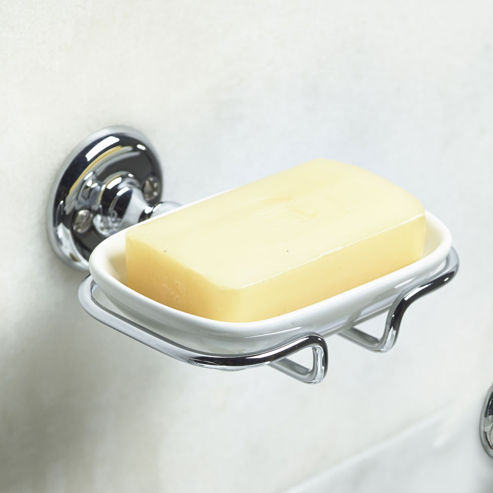 Roper Rhodes Avening Ceramic Soap Dish & Holder - 4914.02 profile large image view 2