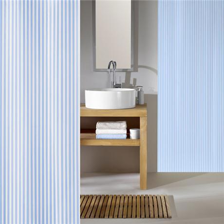 Kleine Wolke - Sanna Polyester Shower Curtain - W2400 x H2000 - Azur
